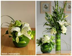 cylinder vase flower arrangements |  Go_Green_Flower_arrangement%3B+By_Judy_Anne_Flowers.jpg