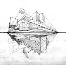 simple architectural sketches. Unique Architectural Two Point Perspective Art Design Architecture Drawing Sketch In Simple Architectural Sketches