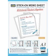 Reusable Flip Chart Paper Suremark Stick On Memo Sheet Reusable Whiteboard Flipchart A3 Sq 6083