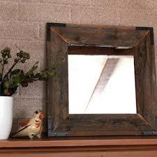 rustic wood mirror frame. Amazing Decoration Rustic Wood Framed Mirrors Best  Mirror Products On Wanelo Rustic Wood Mirror Frame