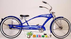 micargi puma gts stretch chopper beach cruiser bike blue