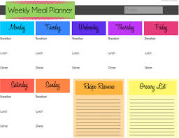Meal Budget Planner Meal Planning On A Budget