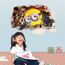 home decor minions ay9268 children s room bedroom wall sticker removable