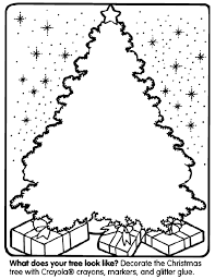 5 absolutely free beautiful christmas colouring pages. Christmas Tree Coloring Page Crayola Com