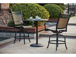 darlee outdoor living standard mountain view cast aluminum 3 piece counter height bar set with 30 inch round counter height pedestal bar table in antique