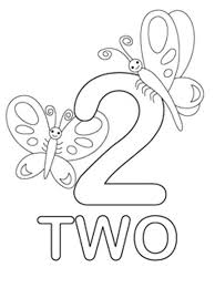 Small Picture Coloring Pages Of Number 2 Coloring Pages