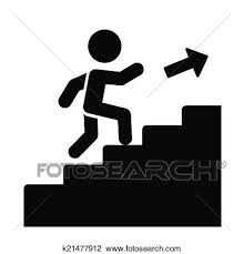 up stairs clipart. Brilliant Clipart Clipart  Man On Stairs Going Up Icon Vector Fotosearch Search Clip Art To