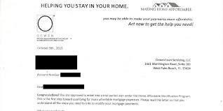 Make Home Affordable Scam Letter page 001