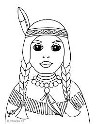 Cowboy En Indianen Kleurplaten Indiaan Meisje