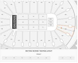 how many seats in section 106 row 7 at