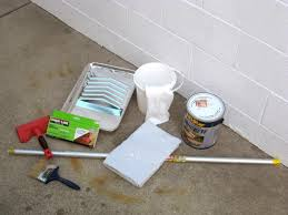 gather materials to stain concrete
