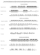 Free Drum Rudiments Chart Cruise Ship Drummer July 2015