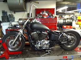 honda ace 750 bobber built at cheap chopperz