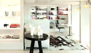 ikea cowhide rug uk home office modern with black and white bookcase bookshelves built ins