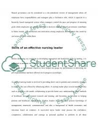 management and leadership in nursing essay example topics and  management and leadership in nursing essay example text preview