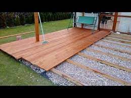 deck designs backyard ground level deck