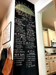 and in the summer months gives us a blueprint for all the things we want to see do this chalkboard wall has inspired a few friends to make their own too