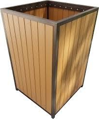 faux wood 30 gallon trash bin florida