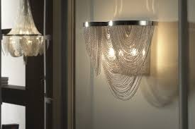 chain scoop metal wall light