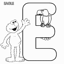 Small Picture ABC letter E Eagle Sesame Street Elmo coloring page Bella Bri