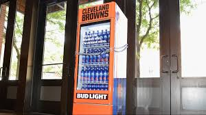 Vending Machines Cleveland Ohio Interesting Bud Light 'Victory Fridges' Open After Cleveland Browns Beat New
