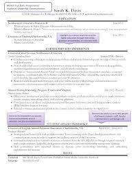 Higher Education Resume Templates At Allbusinesstemplatescom