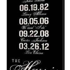 shop wedding date signs on wanelo Wedding Date On Canvas personalized special dates canvas wall art with family last name, birthdates & wedding date, wedding date canvas