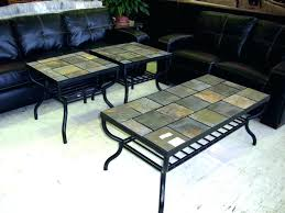 slate table slate top end table top coffee and end tables furniture table round black sunny
