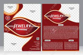 Jewelry Flyer Jewelry Design Flyer Design Template Vector Illustration
