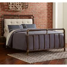 Sturdy Bedroom Furniture A Sturdy Iron Headboard And Footboard Softened With Tufted Fabric