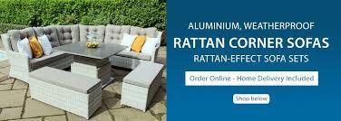 rattan corner sofas free delivery