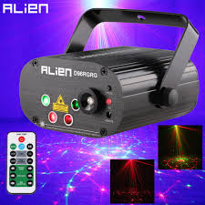 Green Laser Projector Light Us 59 99 50 Off Alien 96 Patterns Dual Red Green Laser Projector Blue Led Stage Lighting Effect Dj Disco Club Party Wedding Light With Remote In