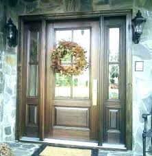 oak fiberglass oval lite exterior door at 3 4 glass wood front p 3 4 lite
