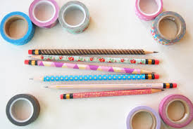Washi Tape The Pink Doormat Decorate Your Pencils With Washi Tape