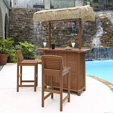pool bar furniture. home styles bali hai outdoor patio tiki bar and 2stools5662998 the depot pool furniture s