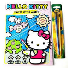 Click on the free hello kitty colour page you would like to print, if you print them all you can make your own. Hello Kitty Paint With Water 2 Coloring Book 2 Crayola Water Painting Brushes 639277265487 Ebay