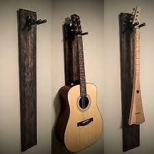 rustic handmade guitar hanger