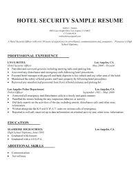 Security Guards Resume Impressive R Sample Security Guard Resume No Experience As Free Resume Samples