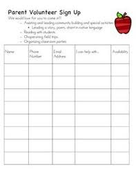 volunteer sign up sheet templates pto sign up sheet template yupar magdalene project org
