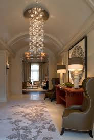 chandelier captivating modern foyer chandeliers small hallway lighting ideas round crystal like bubble and lamp