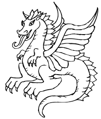 25 best dragon coloring pages your toddler will love to color: Free Dragon Pictures To Color Coloring Home