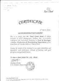 Industrial Training Certificate Format Certificate234