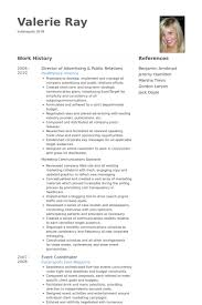 director of advertising public relations resume samples central head corporate communication resume