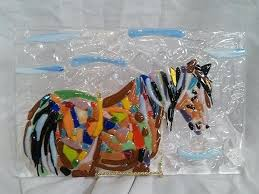 glass fusing ideas items similar to fused glass horse panel on fused glass plates bowls ideas
