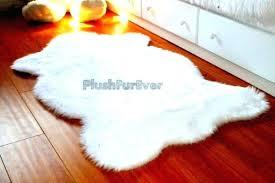 faux animal skin rugs fake fur rug 3 x 5 white faux fur rug single sheepskin faux animal skin rugs