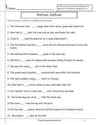 Kids. prefixes worksheets for 4th grade: Prefix Suffix Worksheets ...