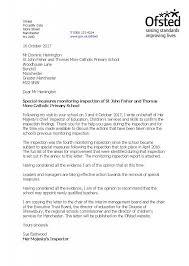 St John Fisher Final Monitoring Visit Letter For Publication October 20 Page 1 730x1024