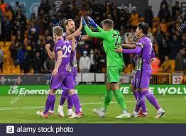 Pierluigi Gollini #22 von Tottenham Hotspur feiert seinen Seitensieg mit  einem Teamkollegen Harry Kane Stockfotografie - Alamy