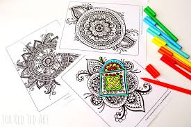 Colouring Pages For Grown Ups Meaningful Mandalas Red Ted Art