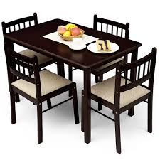 enchanting dining table set for 4 round dining table and chairs for 4 coaster cleveland round
